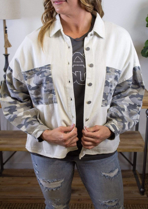 TOPS S / CREAM/CAMO Trendsetter Jacket
