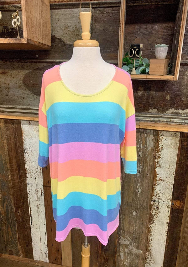 TOPS S/M / CORA/PINK Rainbow Dreaming Top