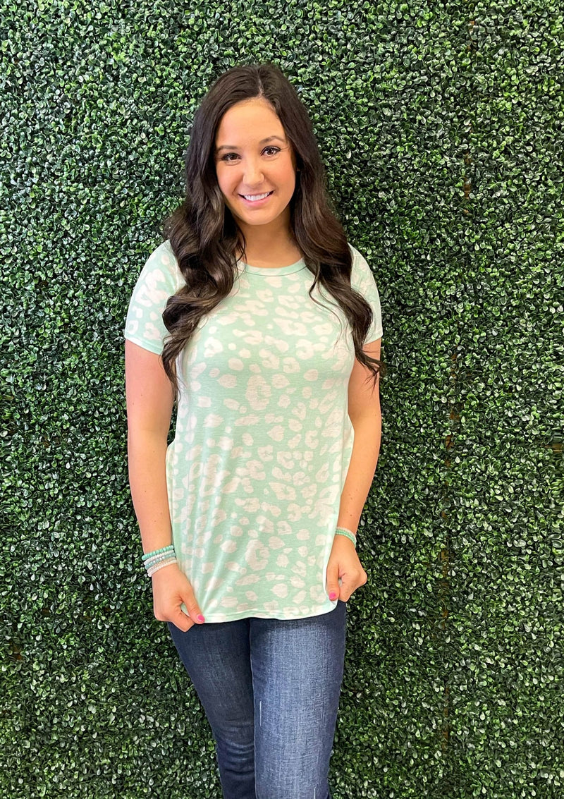 TOPS S / MINT Wild Day Top