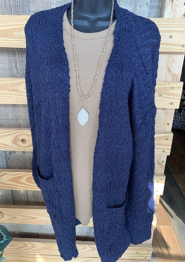 TOPS S / NAVY Fall Breeze Cardigan In Navy