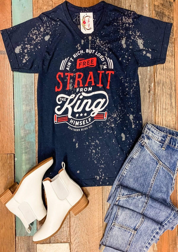 TOPS S / NAVYBLUE Straight From The King Tee