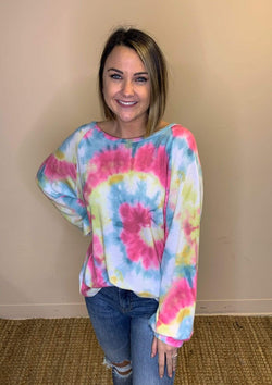 TOPS S / PINKMULTI Covered In Color Top In PinkMulti