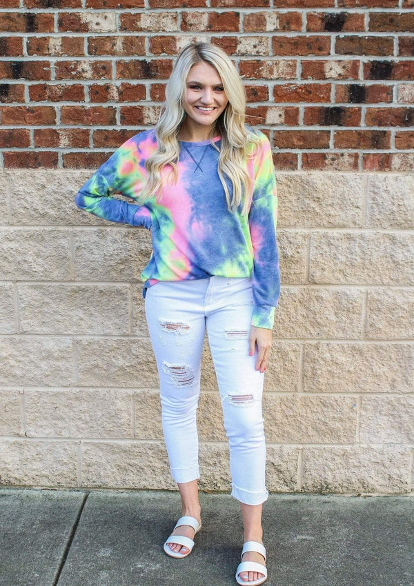TOPS S Pop Of Joy Tie Dye Top