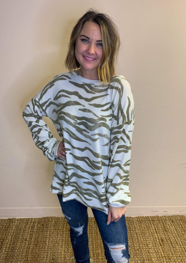 TOPS S / TAUPE Cozy Occasion Top In Taupe