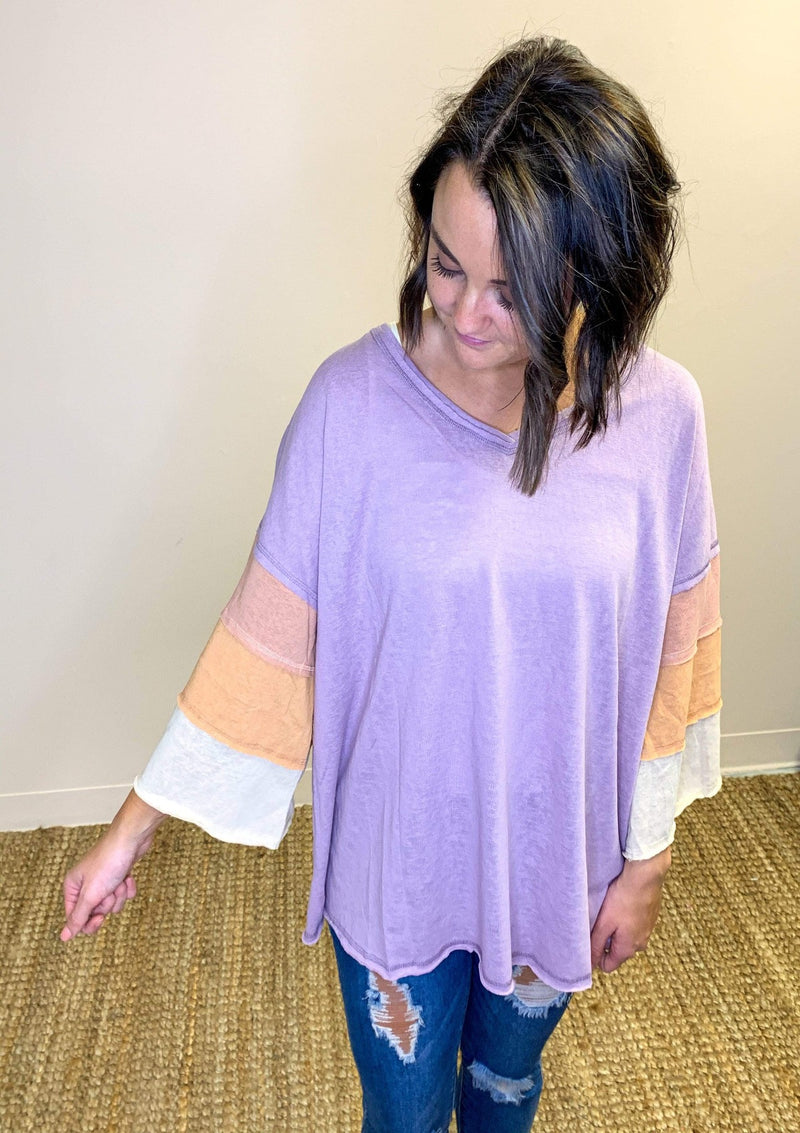 Through Day And Night Top In Mauve