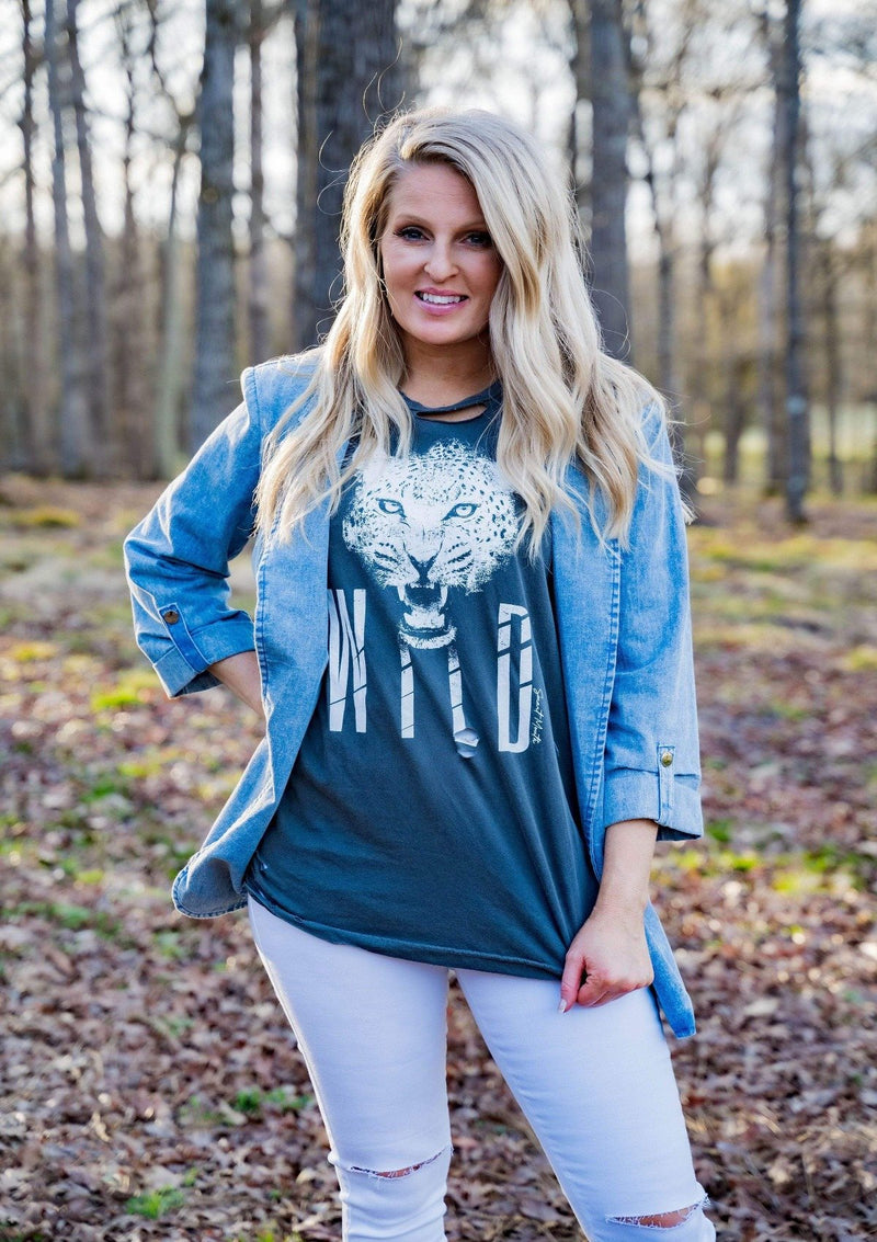 TOPS Wild Distressed Tee