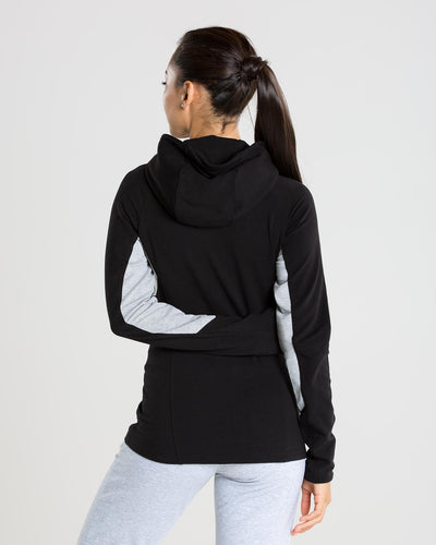 Fit Zip Hoodie | Black/Grey