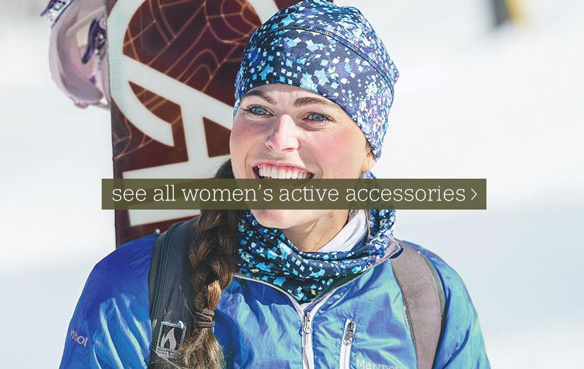 Womens winter running ski and snowboarder accessories from Turtle fur