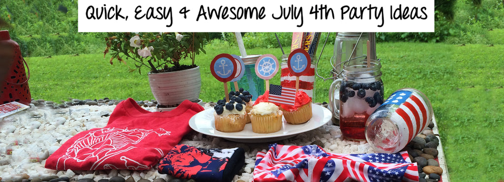 July 4th Party Decor & Products with Turtle Fur!