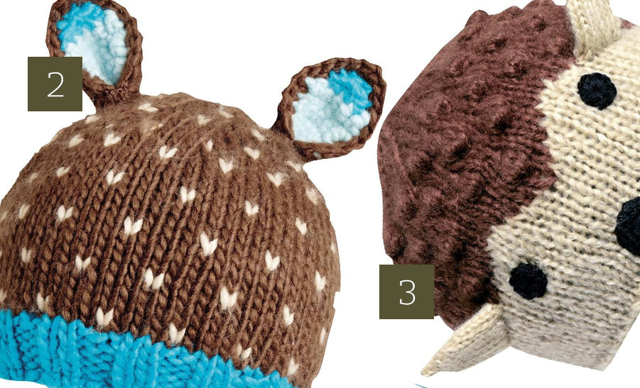 fawn deer hat animal knit hat kids
