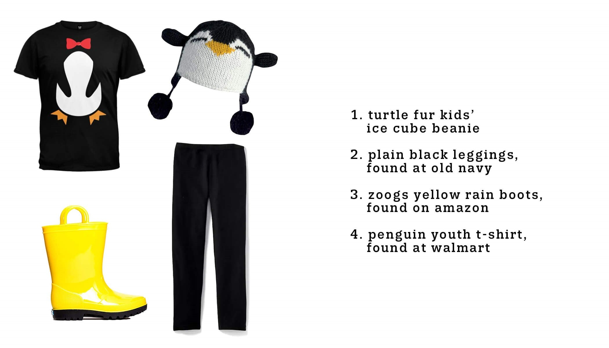 DIY penguin halloween costume