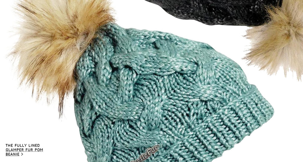 The Glamper fur pom hat is chic sexy and warm