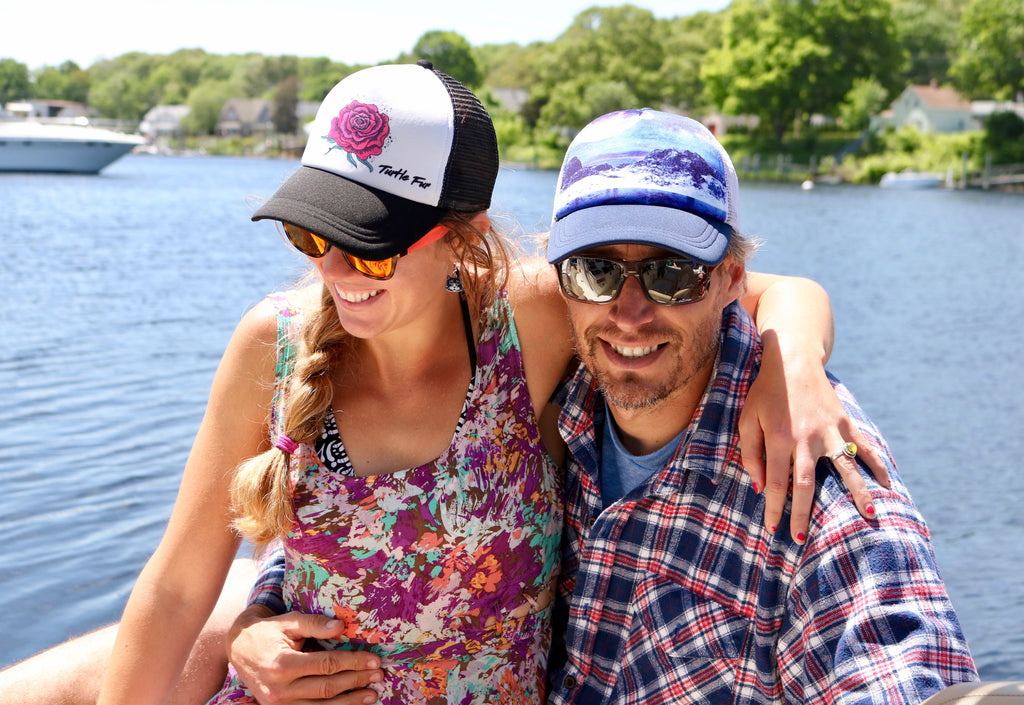 Turtle Fur Shelby Farrell FreshWorldPress New England Trucker Hat Style Outdoor Gear for summer hiking biking kayaking