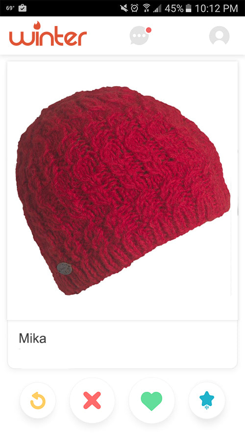 This nepal knit fleece lined wool beanie is flattering on everyone!