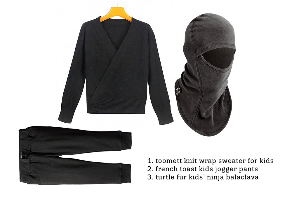 Ninja DIY Costume  for Kids balaclava fleece warm skiing snowboarding