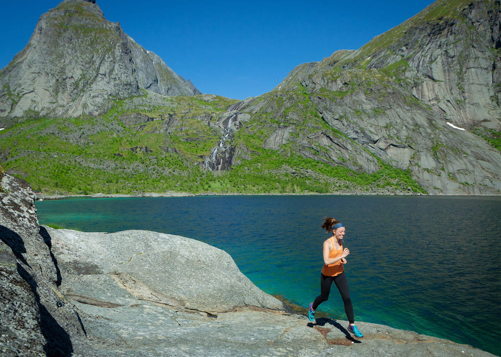 Running in Lofoton, Norway