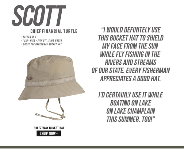 I would definitely use this bucket hat to shield my face from the sun while fly fishing in the rivers and streams of our state. Every fisherman appreciates a good hat. I would also use this boating on lake Champlain to avoid sunburn. It has breathable mesh sides for a cooling air flow. Fathers Day 2017 Gift Ideas