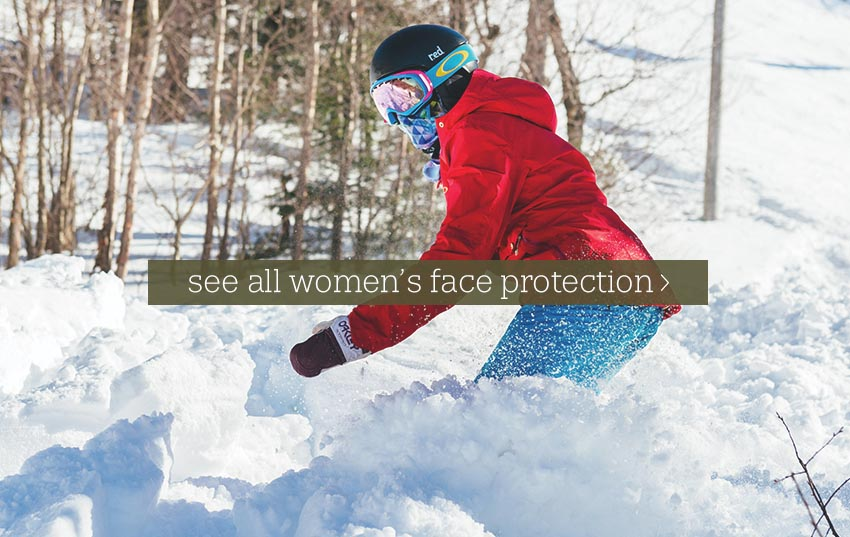 Underhelmet and facemask skiing snowboarding for women by Turtle fur