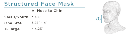 Structured Face Mask Size Chart
