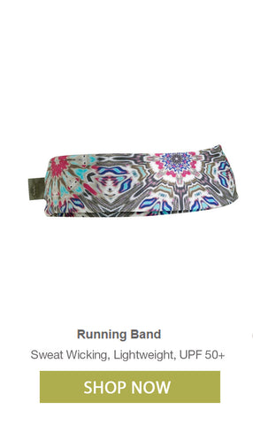 Hiking and Running Headbands for Women sweat wicking