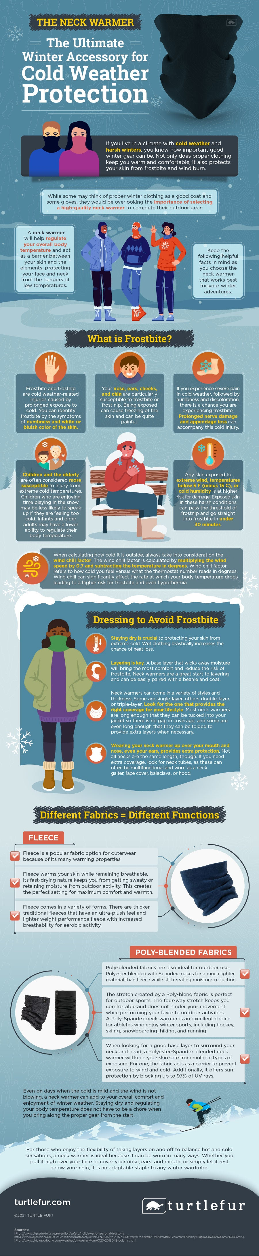 How to Choose the best Neck Warmer - Infographic