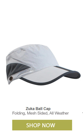 Packable folding bill sports and fishing cap extra long bill