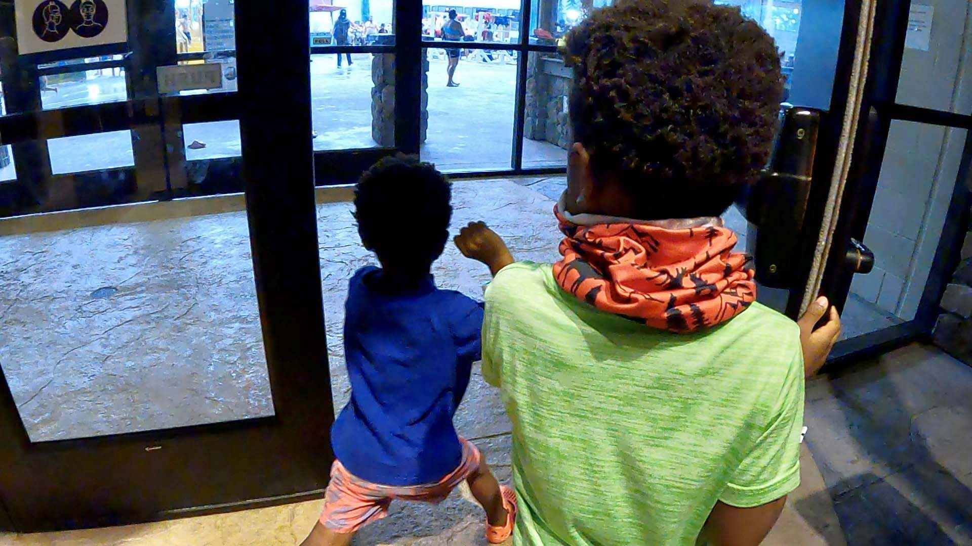Entering the water park by Zenovia Stephens