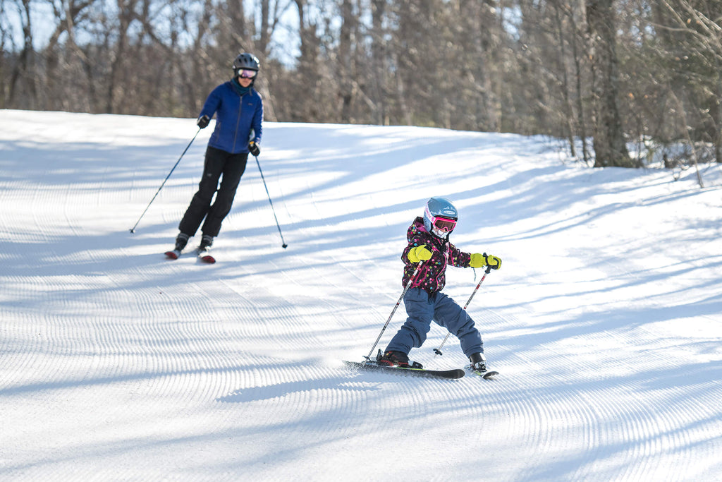kids skiing, kids without fear