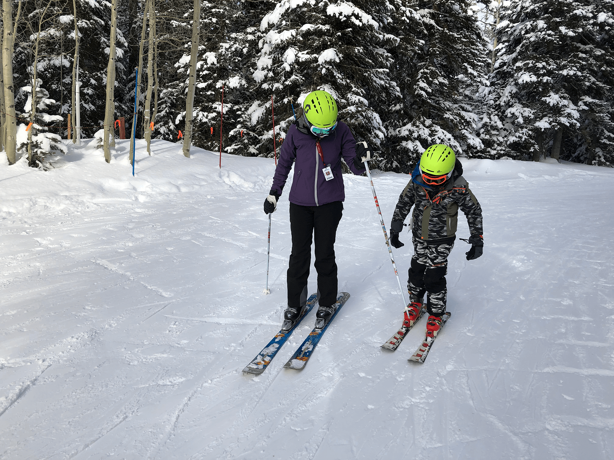 Tips for skiing with kids, Teaching your kids to ski