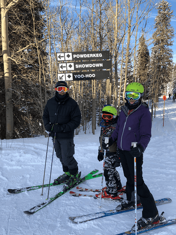 Tips for skiing with kids, teaching your kids to ski, family ski trips