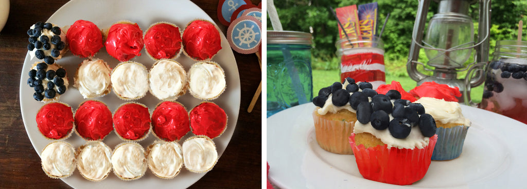 DIY USA Americana cupcakes from Turtle Fur No Flag Cake Necessary.