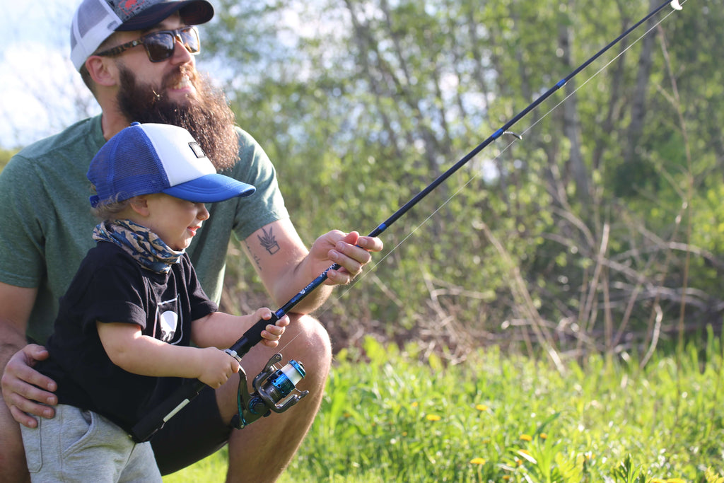 fishing with dad, fishing with kids, fathers day fishing trip