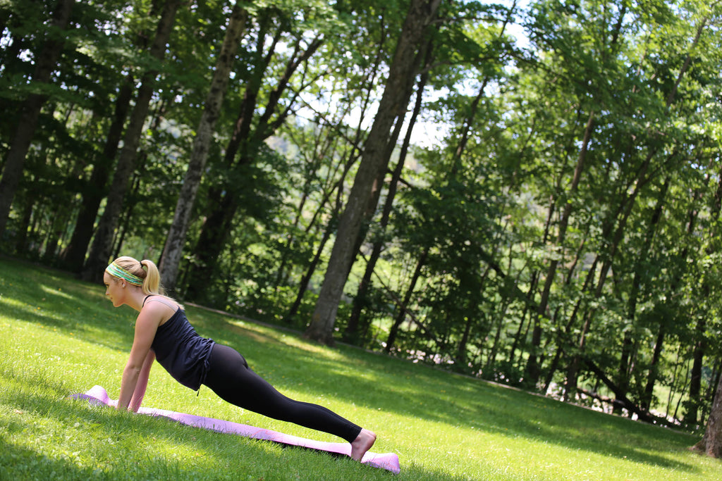 mother's day yoga, backyard yoga