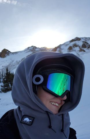 Kyle Overhood, snowboarder overhood, hood that goes over helmet