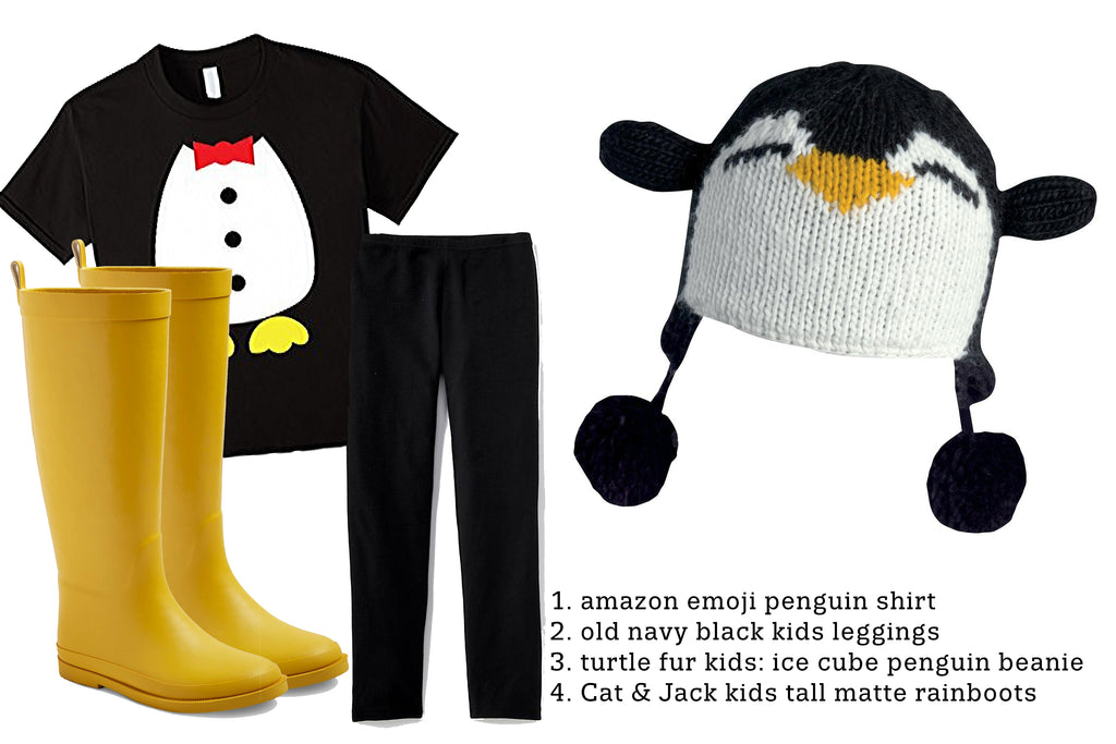 DIY Penguin costume idea for kids