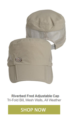 Fly fishing waterproof foldable folding cap