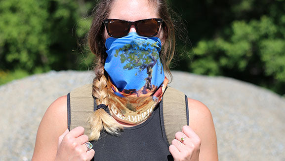 Turtle Fur National Parks Collection Buff Style Face Mask