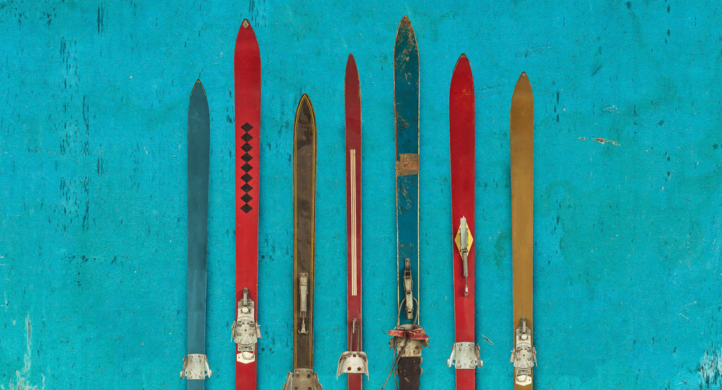 old skis, ski safety