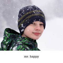 mr. happy ragg beanie, youth beanie holiday gift ideas for kids