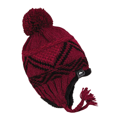 Kids Dean Bean Earflap Hat / Color-Maroon