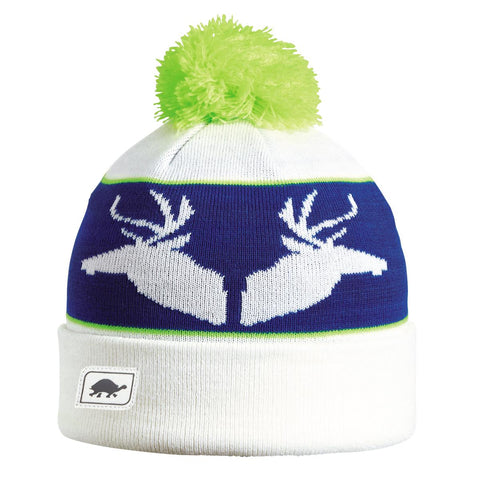 Buck Pom Beanie / Color-White