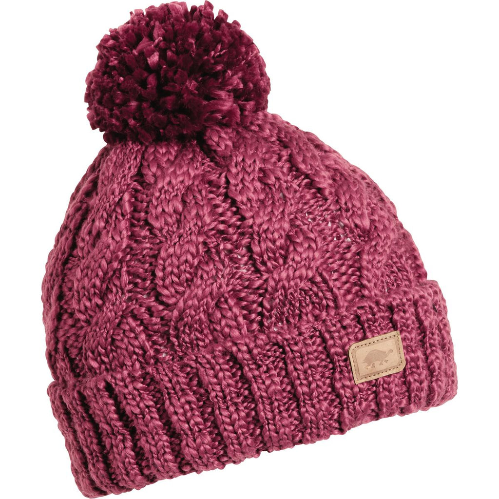 Serendipity Pom Beanie / Color-Mulberry