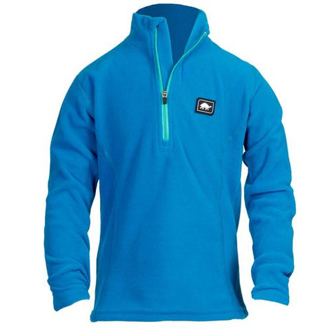 Girls Micro Fur Fleece Kira 1/4 Zip / Color-Blues for Breakfast