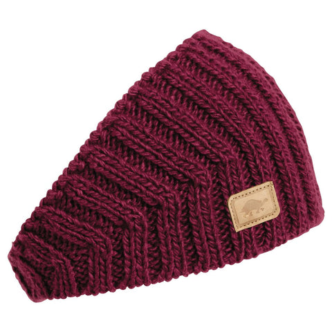 V-Train Hand Knit Headband / Color-Wine
