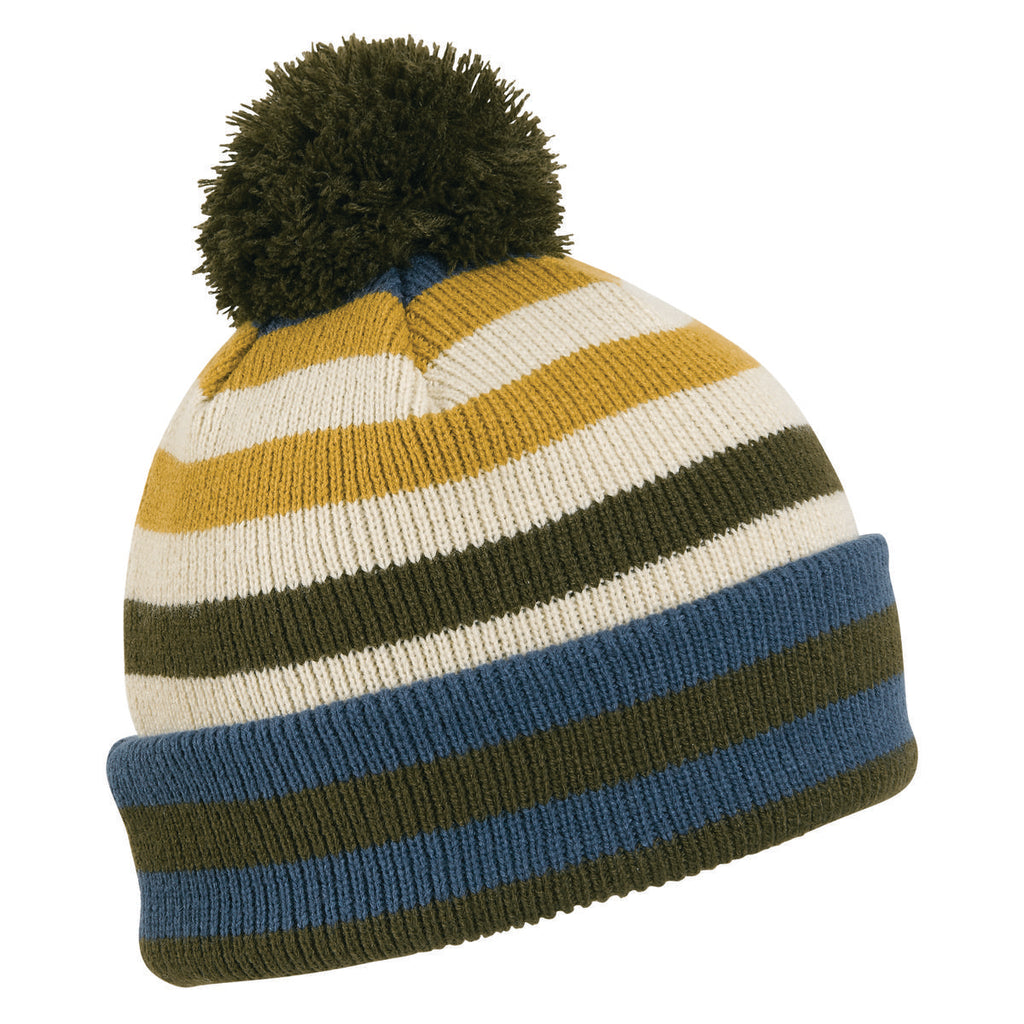 Savory Stripes Pom Beanie / Color-Oregano