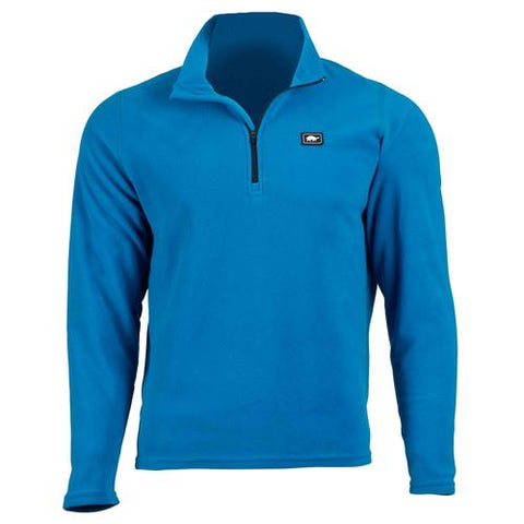 Men's Micro Fur Fleece Carapace 1/4 Zip / Color-Blues for Breakfast