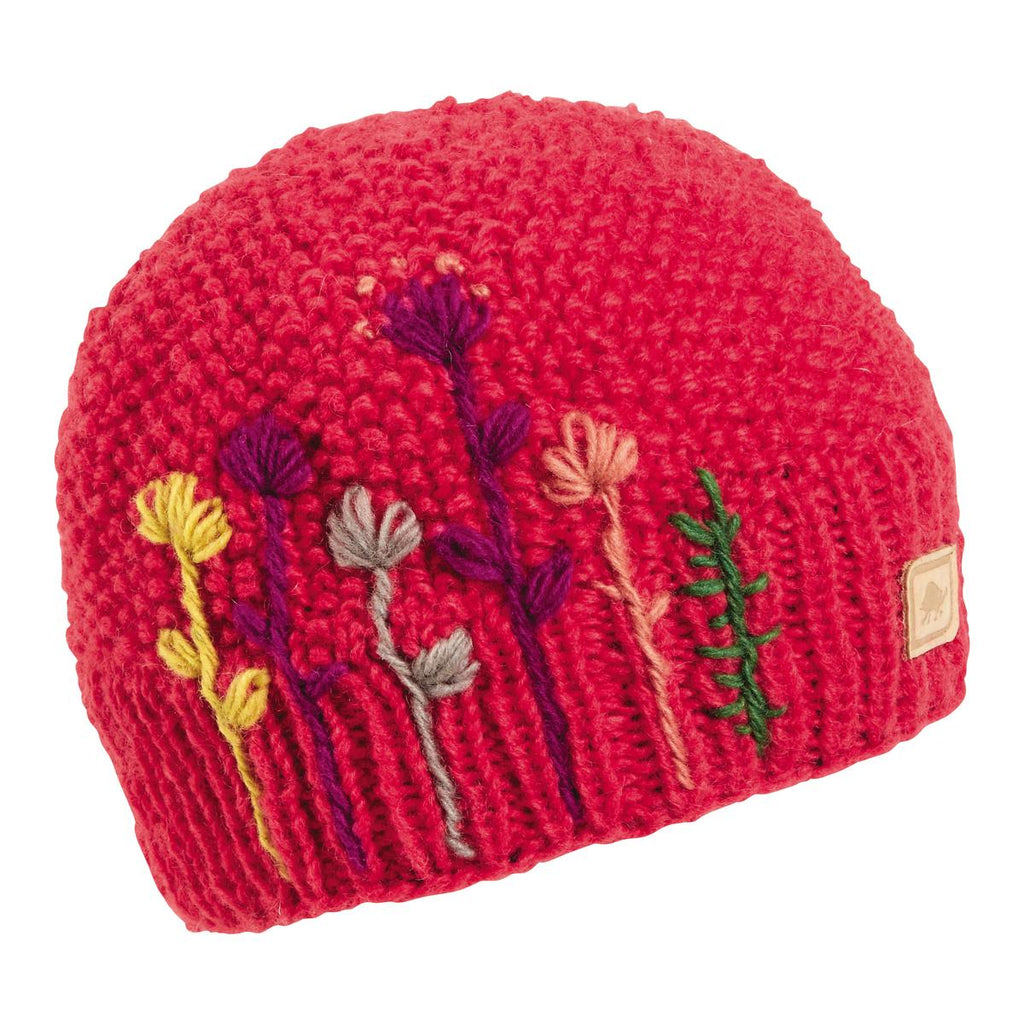Karishma Hand Knit Beanie / Color - Coral