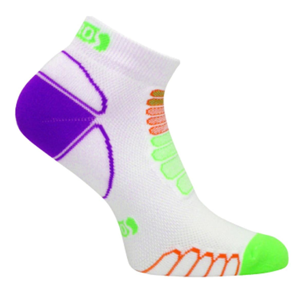 Eurosock Ultra Light Sprint Silver Ankle Sock / Color-Green