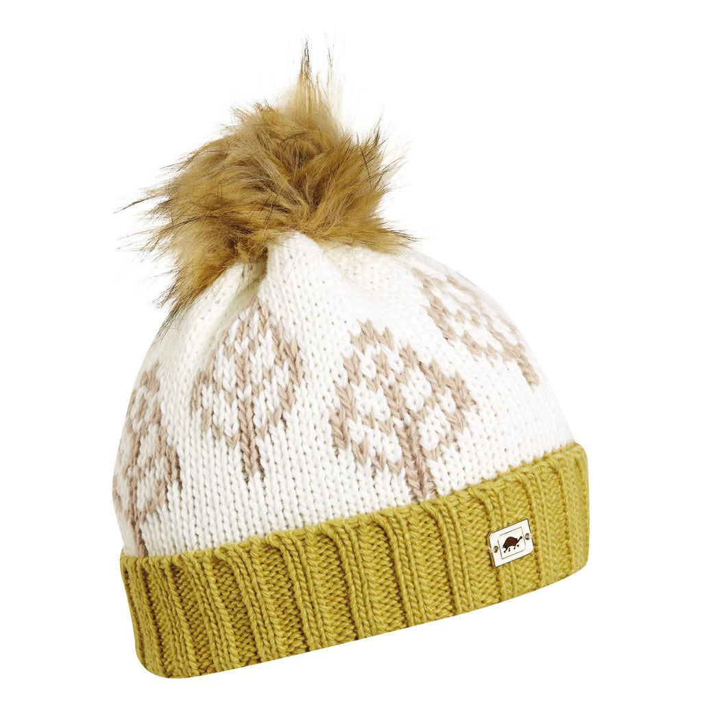 Lizza Pom Beanie / Color-White