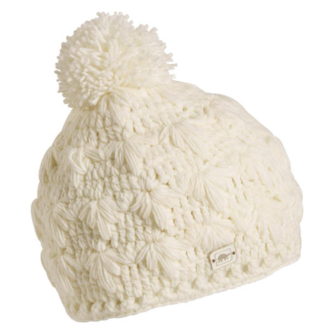 Rhoda Fleece Lined Pom Beanie / Color-White